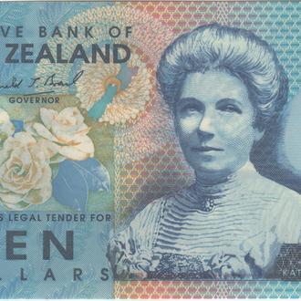 Новая Зеландия 10 долларов 1999 г. в UNC