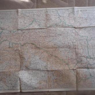 військова карта Буковина та Галичина 1914-16 рр