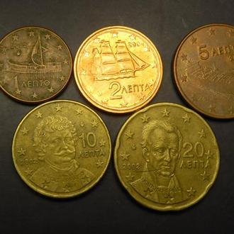 Комплект євроцентів Греції 2002