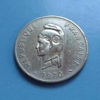 ФРАНЦУЗСКИЕ АФАРЫ И ИССА, 100 ФРАНКОВ, 1970 г.