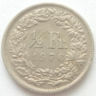 Швейцария ½ франка, 1976