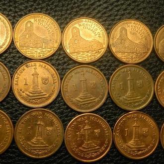 1 пенні Мен (порічниця) 15шт, всі різні