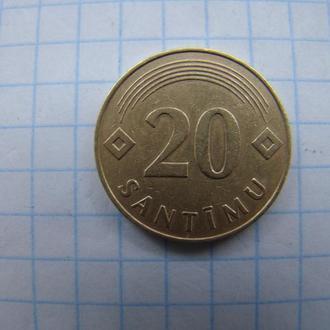 20 сантим 1992 г., Латвия.