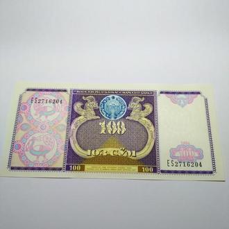 100 сум, 1994, Узбекистан, пресс, unc, оригинал