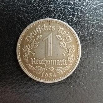 Третий Рейх 1 марка 1934 (D)