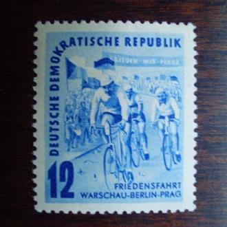 ГДР.1952г. Велогонка. Полная серия. MNH