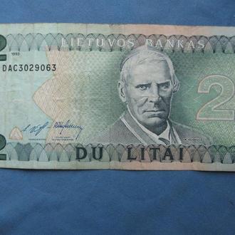Литва 2 лита 1993 год