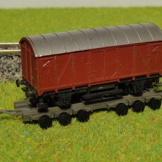 (1126) прицеп с товарным вагоном Arnold в масштабе N (1:160)