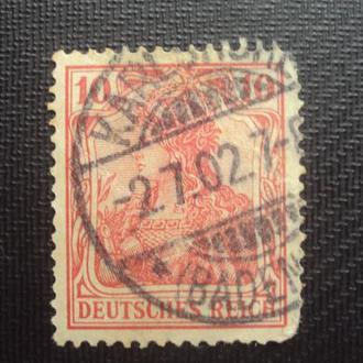 Германия 1902-11г. гашение Карлсбаден.