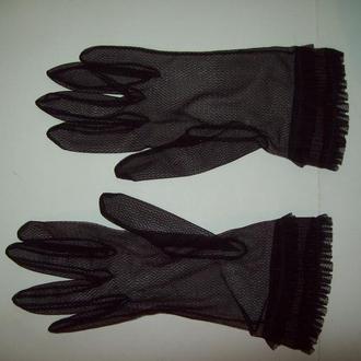 Перчатки женские ажурные винтаж СССР