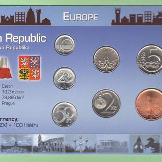 Набор монет ЧЕХИЯ пластик картон блистер запайка