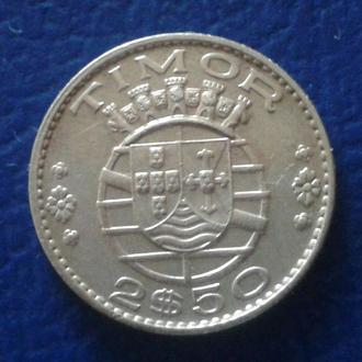 2,5 ЭСКУДО ($), 1970 г.,ТИМОР