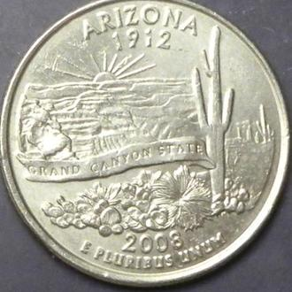 25 центів 2008 P США Арізона