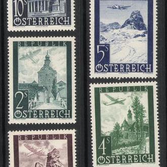 Австрия - архитектура 1947 - Michel Nr. 822-828 **