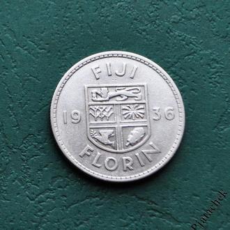Фиджи 1 Флорин 1936 Серебро № 2