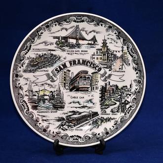 Тарелка настенная коллекционная Винтаж