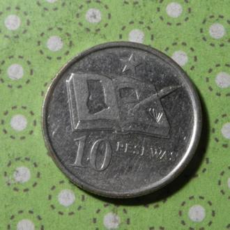 Гана монета 10 песева 2007 год !