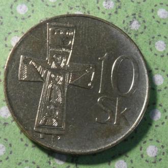 Словакия 2003 год монета 10 крон !