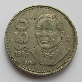Мексика 50 песо 1985 (KM#495) *Бенито Хуарес*