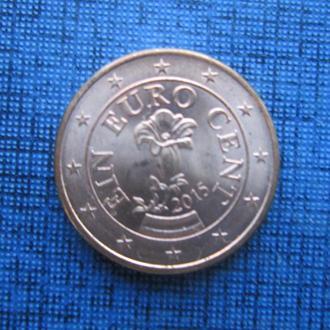 Монета 1 евроцент Австрия 2015