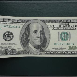 100 долларов 1999, США. Не рядовой год. Сохран