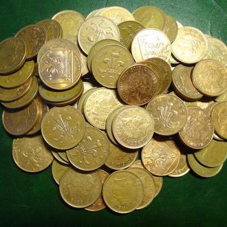 2 пенси Британія 100шт  суперлот