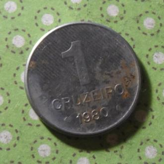Бразилия 1980 год монета 1 крузейро !