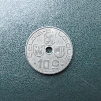 10 центов Бельгия 1942 год. цинк
