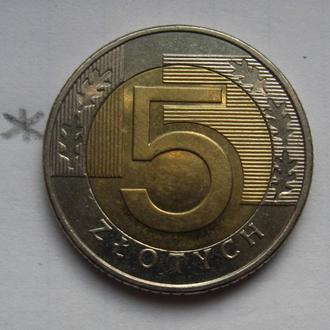 ПОЛЬША, 5 злотых 2009 года (биметалл).