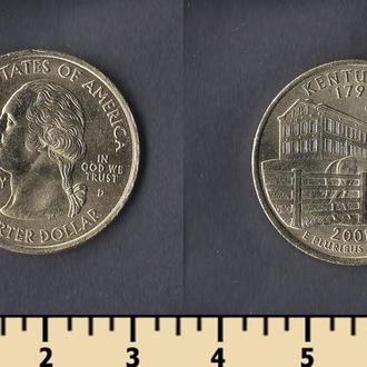США 25 центов 2001