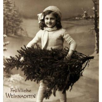 Открытка почтовая карточка С Рождеством 1913 г. Германия Fv8.5