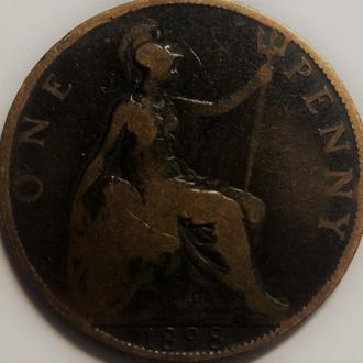Англия 1 пенни 1898 год