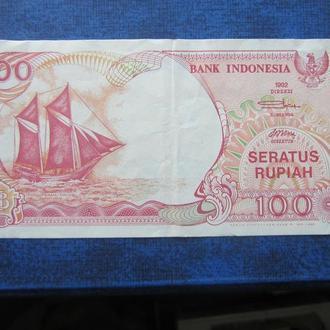 банкнота 100 рупий Индонезия 1995 состояние