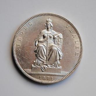 Пруссия 1 талер 1871 г., XF-UNC, 'Победа над Францией'