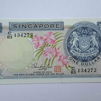 Сингапур. 1 доллар  1972 год. UNC.