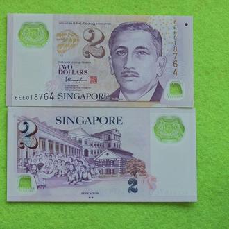 Сингапур, 2 доллара  UNC