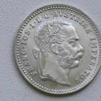 10 Крейцерів 1872 р Австрія Срібло UNC 10 Крейцеров 1872 г Австрия Серебро