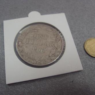 либерия 1 доллар 1968 №594