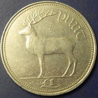 1 фунт 1990 Ірландія
