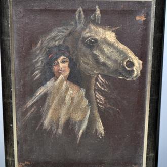 "Картина холст, масло ""Символисты"" 1900-е годы"