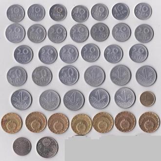 ВЕНГРИЯ = 41 монета = ВСЕ РАЗНЫЕ = погодовка - см.описание