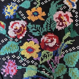 вишита картина 3 шт квіти (№610)