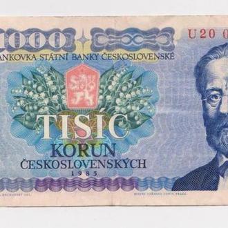 1000 крон = 1985 г. = ЧЕХОСЛОВАКИЯ