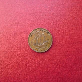 Великобритания 1/2 пенни 1943