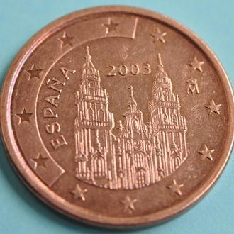 (А) Испания 5 евроцентов евро центов 2003