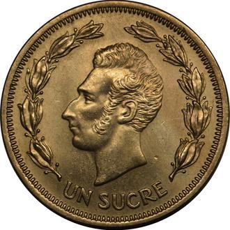 Еквадор  1 Sucre 1959   AU-UNC    A106
