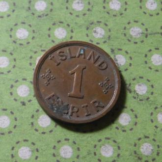 Исландия 1942 год монета 1 эре !