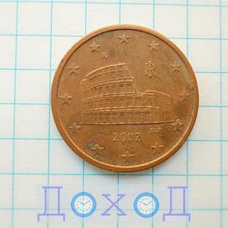 Монета Италия 5 евроцентов 2002 магнит