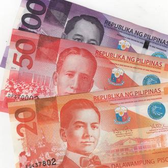 Набор Филиппины в UNC из пачки 20-50-100 песо