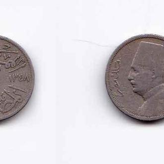 Египет 2 миллима 1929 , Фуад I